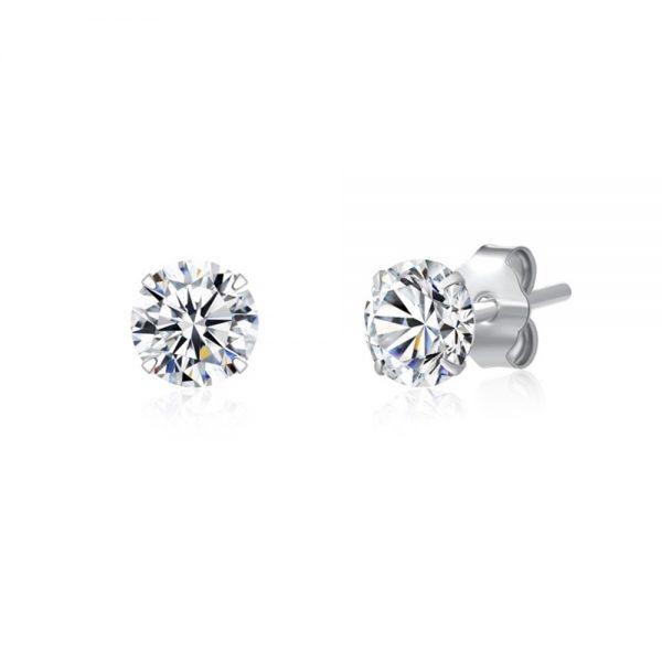 .925 Sterling Silver Stud Earrings 3mm