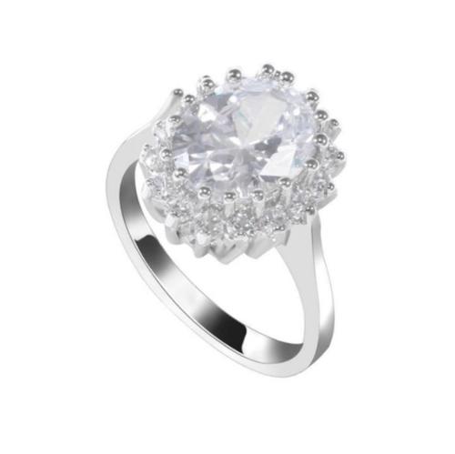 CZ Princess Diana Ring