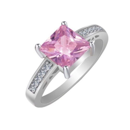 Pink Stone Cocktail Ring