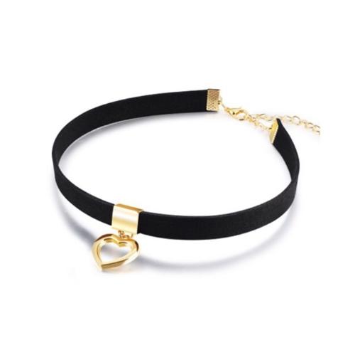 Black Choker Necklace Heart
