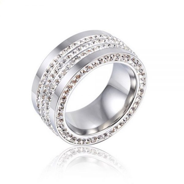 Stainless Steel Silver Cylinder Ring