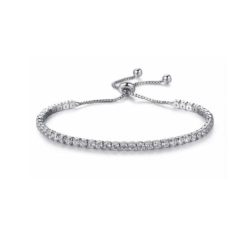 Adjustable Rhinestone Tennis Bracelet