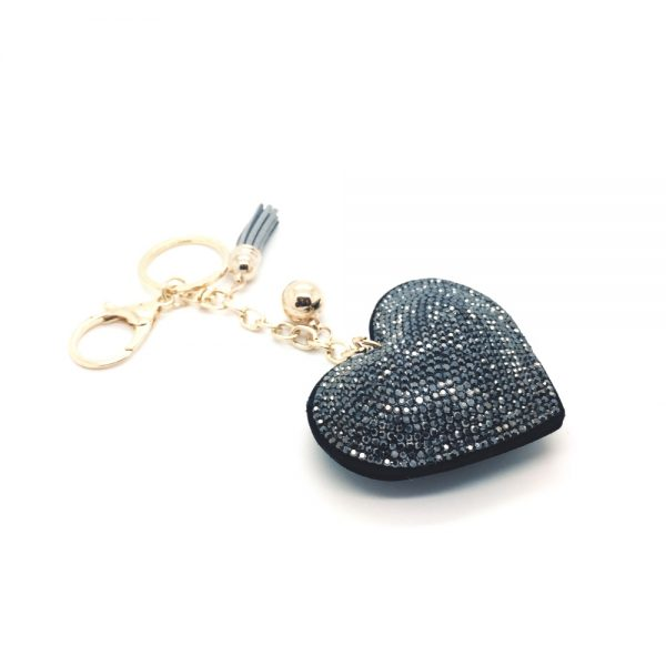 Heart Keychain with Rhinestones