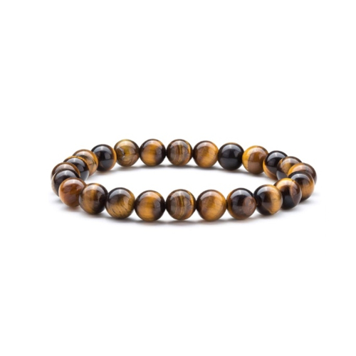 Men's Tiger Eye Elastic Beaded Bracelet