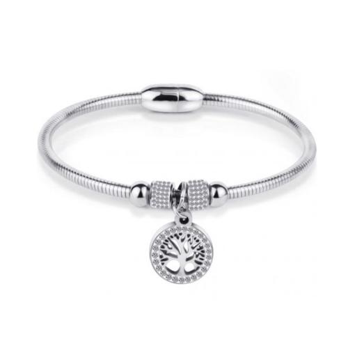 Stainless Steel Tree of Life Bracelet