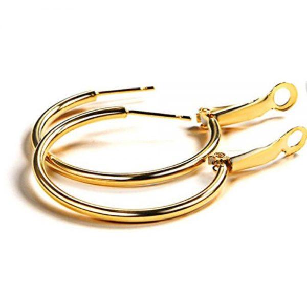 Stainless Steel Gold Hoop Earrings