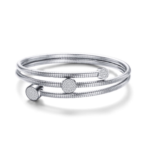 Multi-Layer Stainless Steel Cable Wire Bracelet