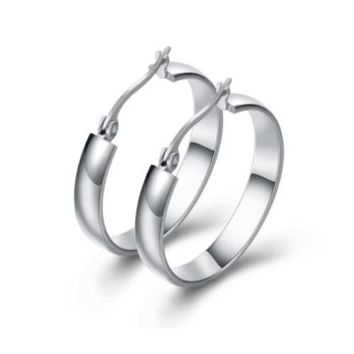 Silver Hoop Earrings