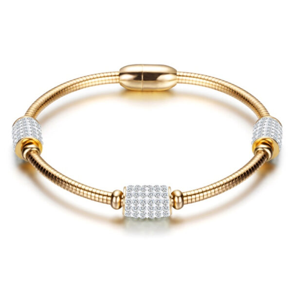 Stainless Steel Gold Magnetic Bracelet