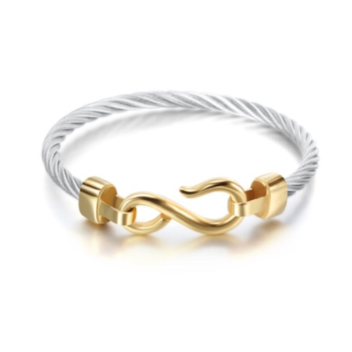 Stainless Steel Hook Cable Bracelet