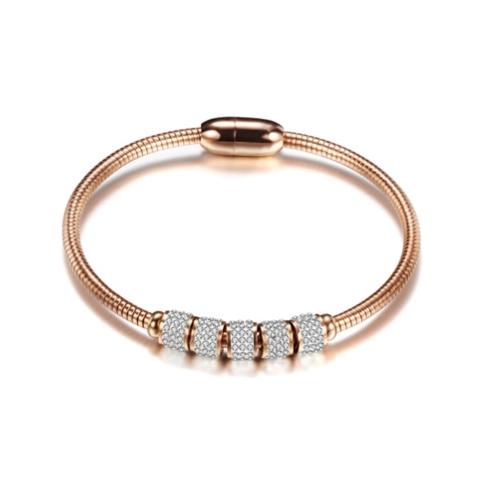 Stainless Steel Rose Gold Magnetic Bracelet