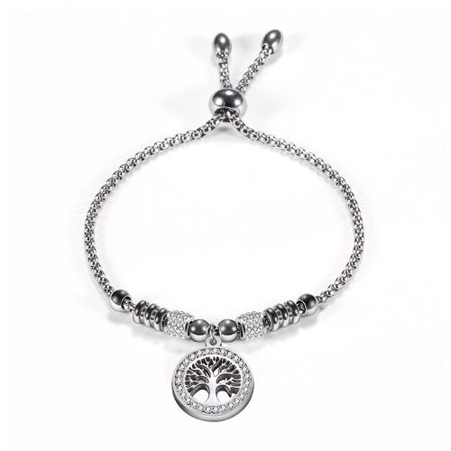 Stainless Steel Adjustable Tree Bracelet