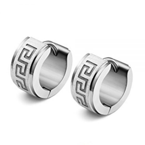Stainless Steel Silver Earrings