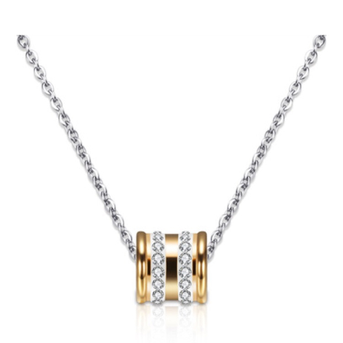 Stainless Steel Cubic Zirconia Necklace