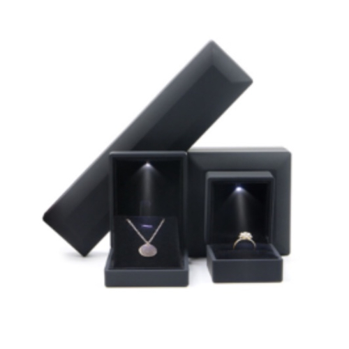 Black Jewelry Boxes with Led Light