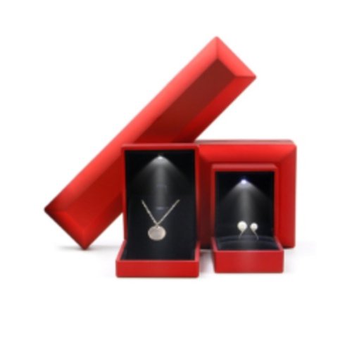 Red Jewelry Boxes with Led Light