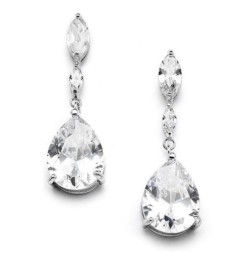Crystal Tear Drop Earrings