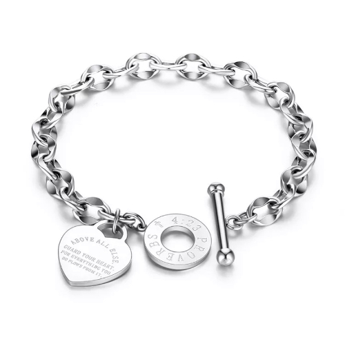 Engraved Heart Bracelet