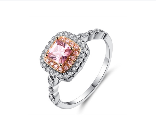 Peach Sapphire Vintage Ring