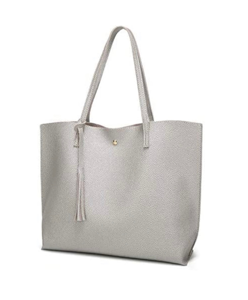 Faux Leather Tote Handbag