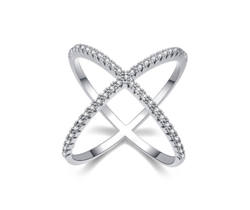 Criss Cross Silver Ring